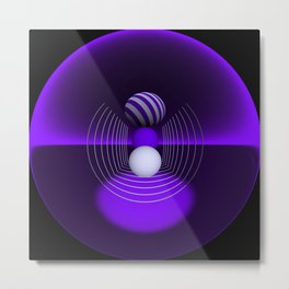 circular images on black -18- Metal Print