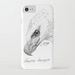Harpy Eagle Stippling iPhone Case