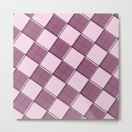 Argyle Out of Line Girly Metal Print