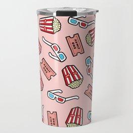 Movie Pattern in Pastel Pink Travel Mug