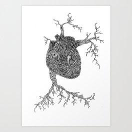 Monsters Heart Art Print