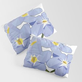 Forget Me Nots Low Poly Pillow Sham