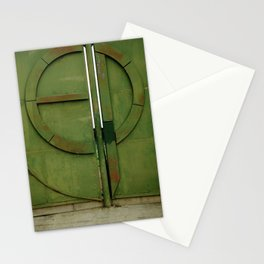 #175Photo #193 Closed #Gate #GreenWithRust #Retro Stationery Cards