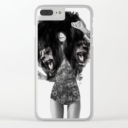 Lion #2 Clear iPhone Case