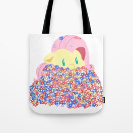 Fluttershy with flowers Tote Bag