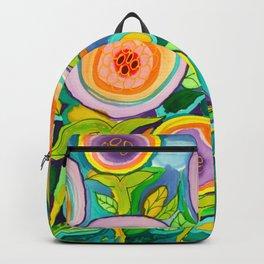 Peach Peonies in the Garden Backpack