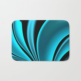 Abstract Fractal Colorways 02 Pacific Blue Bath Mat