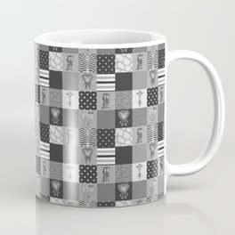 Jungle Friends Shades of Grey Cheater Quilt Coffee Mug