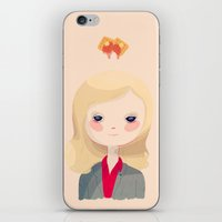 leslie knope iPhone & iPod Skins featuring Vote Knope by Nan Lawson