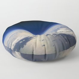 Earth and Moon Floor Pillow