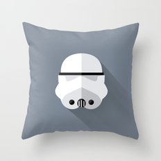 Stormtrooper Minimalist Poster Throw Pillow