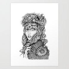 Hollyhock Art Print