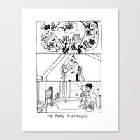 the royal tenenbaums Canvas Prints featuring The Royal Tenenbaums by La Tia Pereques