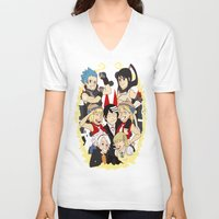 soul eater V-neck T-shirts featuring Soul Eater Meisters and Weapons 02 by renaevsart