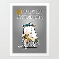 Life is like learning to cycle... Art Print