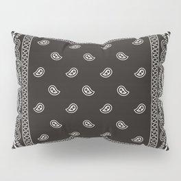 Paisley - Bandana - Black -  Southwestern Pillow Sham