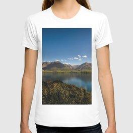 lake wakatipu new zealand mountain landscape mountain lake mountains otago mount nicholas beautiful nature blue sky T-shirt
