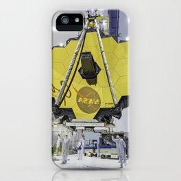 117. James Webb Space Telescope Mirror Seen in Full Bloom  iPhone Case