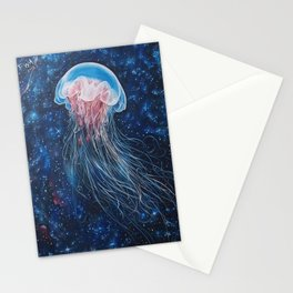 Space JellyFish Stationery Cards
