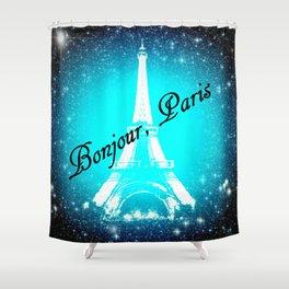 Bonjour, Paris! Shower Curtain