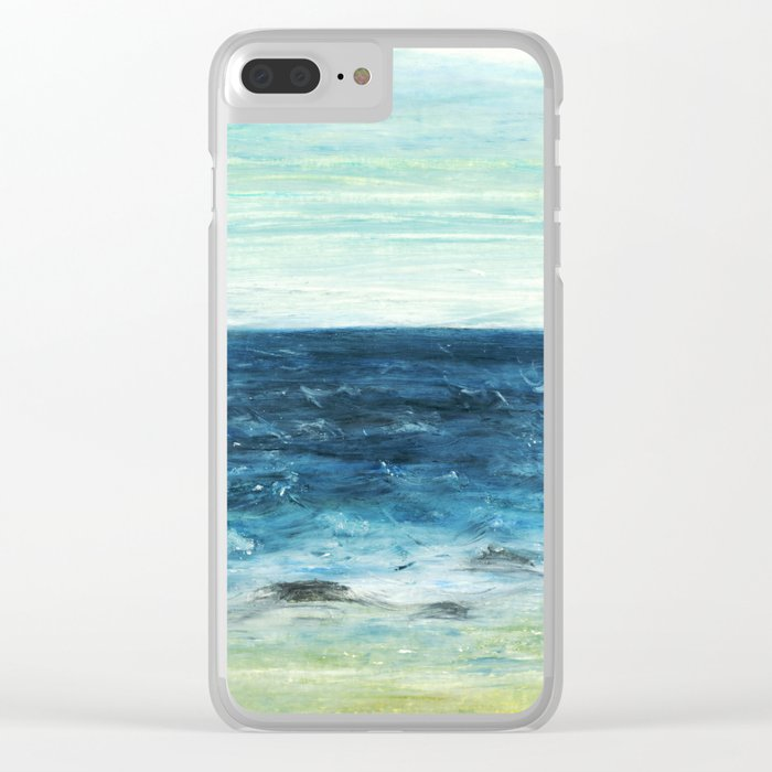 Horizon at the Baltic sea Clear iPhone Case
