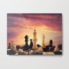 the rise of a chess player Metal Print