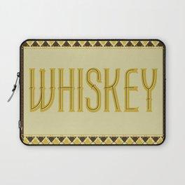 Vintage Inspired Whiskey Type Print Laptop Sleeve