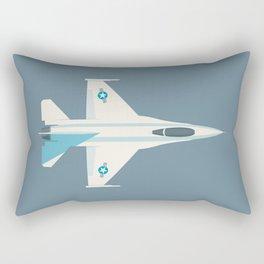 F-16 Falcon Fighter Jet Aircraft - Slate Rectangular Pillow