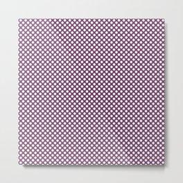 Wood Violet and White Polka Dots Metal Print