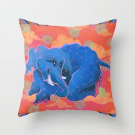 Colourful Animal Elephant Decoration Patterns Throw Pillow