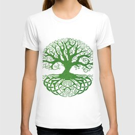 Green Celtic Tree of Life T-shirt