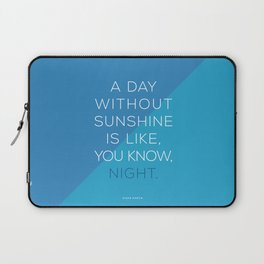 A Day Without Sunshine. Laptop Sleeve