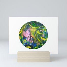 Flowers Of The Deep Mermaid - Circle Mini Art Print