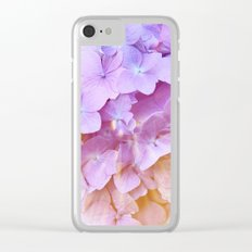 Multicolor beautiful Hydrangea petals - Flowers - Buds - Blossoms Clear iPhone Case