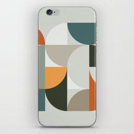 Mid Century Geometric 12 iPhone Skin