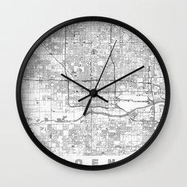 Phoenix City Map Line Wall Clock