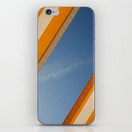 Orange blue sky iPhone Skin