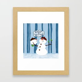 Funny Snowman Holiday Design Framed Art Print
