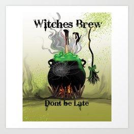 Witches Brew Ha Ha Art Print