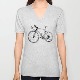 Wooden Bicycle Unisex V-Neck