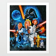 Family Guy Star Wars Parody Art Print