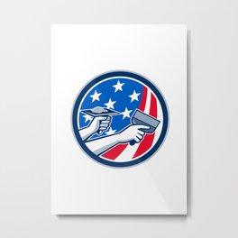 American Drywall Repair Service Flag Circle Retro Metal Print