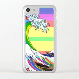 The Great Wave off Kanagawa (Colorful) Clear iPhone Case