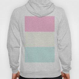 Trio Shades, Pastel Pink White & Blue Hoody