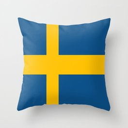 flag of sweden Throw Pillow