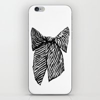 bow iPhone & iPod Skins featuring Bow by Samantha Turnbull