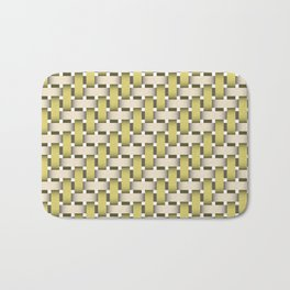 Golden Woven Basket-Look Bath Mat