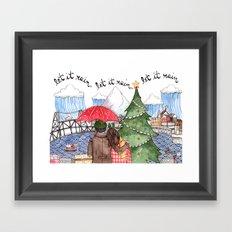 PNW Christmas Framed Art Print