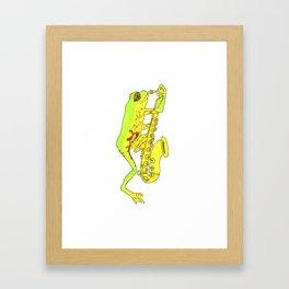 The Ribbitors Saxophone  Framed Art Print