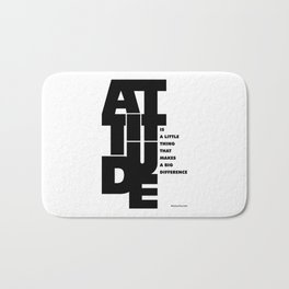 Lab No. 4 - Life Inspirational Quotes Of Attitude Inspirational Quotes Poster Bath Mat